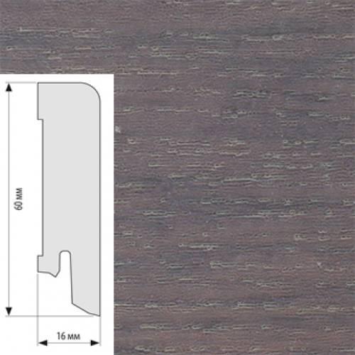 Плинтус Karelia Дуб Asphalt Grey 16x60х2500 мм