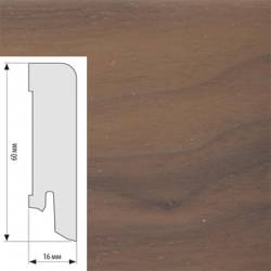 Плинтус шпонированный Karelia Орех 16x60 мм