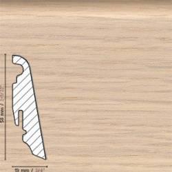 Плинтус шпонированный Дуб Мрамор